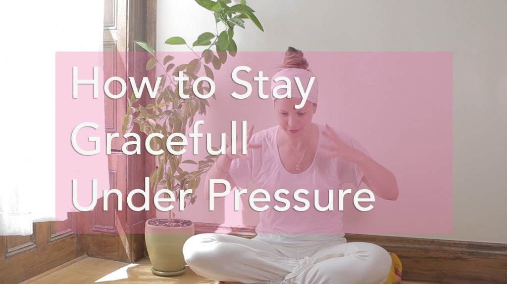 How to stay graceful under pressure